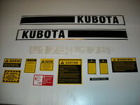 Kubota L175 Tractor Decal Set With Caution Kit