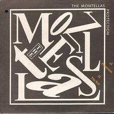 "THE MONTELLAS protection/the uk arista 3 1987 7"" PS VG/EX punch hole in sleeve"
