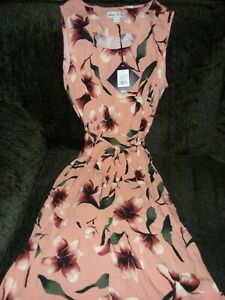 NWT-Ava-amp-Viv-Women-039-s-Plus-Size-Floral-Print-Sleeveless-Tiered-Dress-Xl