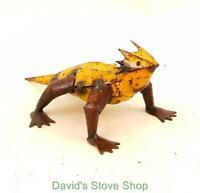 Recycled Metal Yard Garden Folk Art 7 Mini Horned Horny Toad Sculpture Mi209 Yb