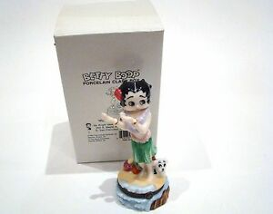 Porcelain-Hinged-Box-Betty-Boop-Hula-1999-King-Features-Syndicate-Inc