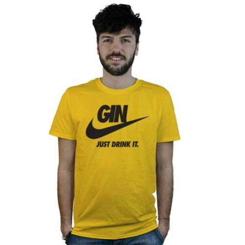 Divertente Gin Tonic T-Shirt Gin Just Drink It Cocktail Maglietta Barman