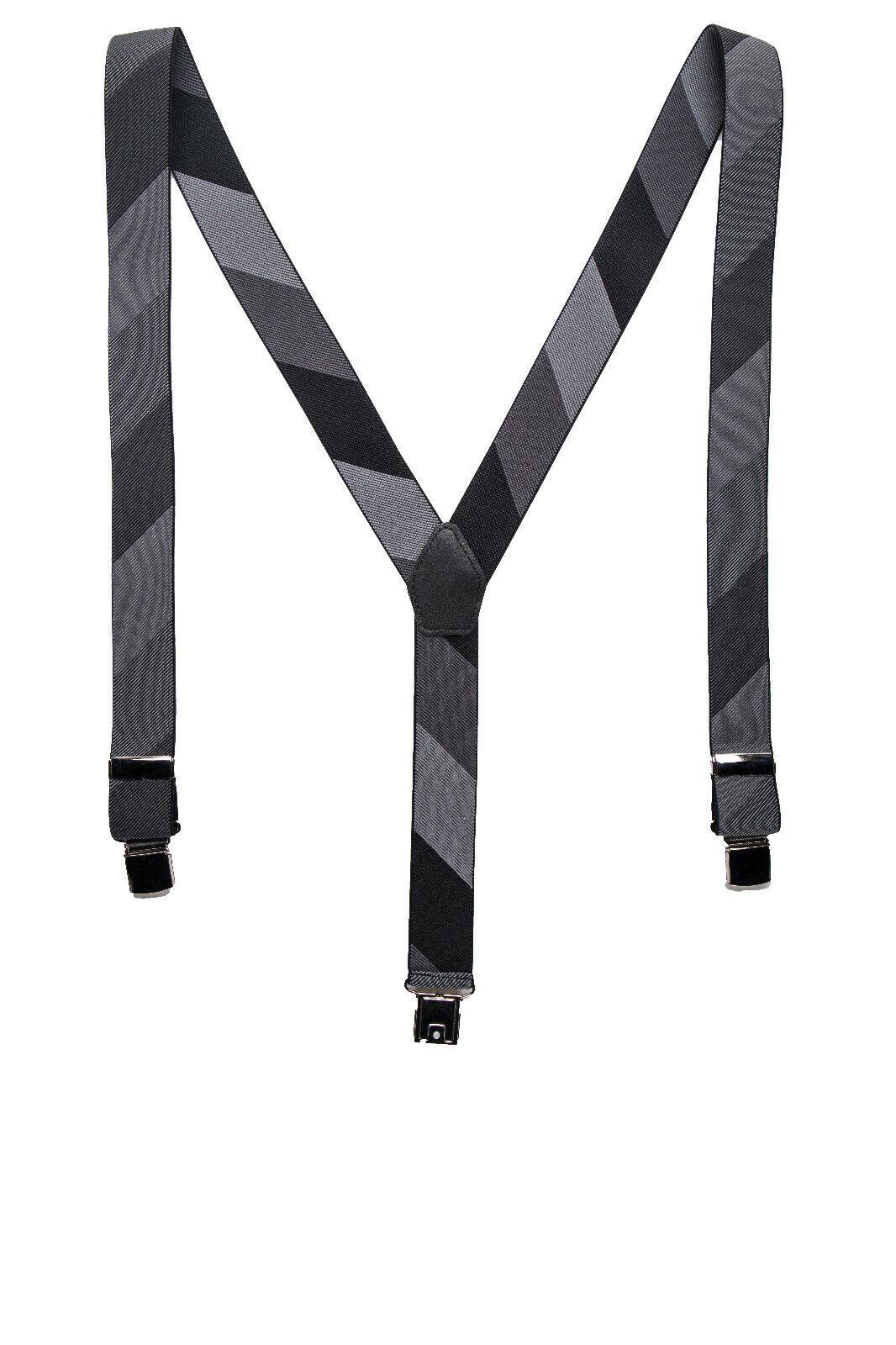 Clip Fashion Dress Vegan Brace Suspender Greyscaled Elastic Lycra & Adjustable