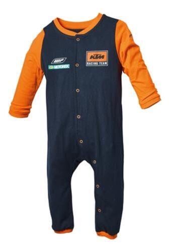 KTM Replica Baby Romper Suit Racing Team Long Sleeved Suit Blue Orange New