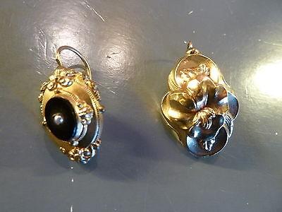 Biedermeier Ohrringe, 2 Verschiedene