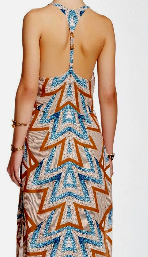 FREE PEOPLE PEOPLE PEOPLE Serves You Right' Printed Maxi  Mint Tribal Dress Sz 2 New  168 ca8d4c