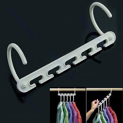 Space Saver Wonder Magic Clothes Hangers Closet Organizer Hooks Racks Useful