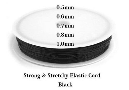 Elastic Stretch Beading Cord Transparent Thread Wire  0.4mm 1mm Clear /& Black