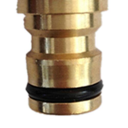 "Brass Garden Tap Hose Pipe Connector Quick Release Hosepipe Hose Lock1//2/""3//4/"" AG"