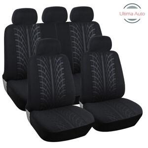 For-Skoda-Fabia-Octavia-Mpv-Roomster-Yeti-Full-Set-Black-Fabric-Car-Seat-Covers
