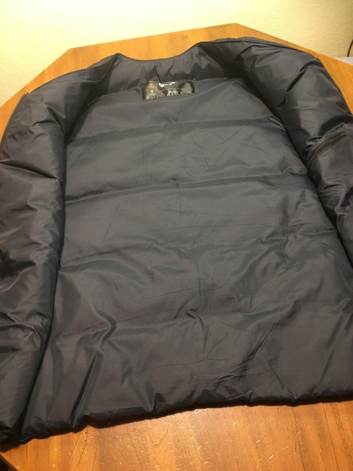 Barbour Men's Down Puffer Nylon Black Vest Size 4… - image 6