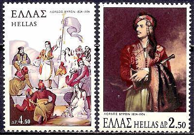 Kompetent Greece 1974 Lord Byron Poe?t Writer L?iterature ?paintings Art Costumes 2v Mnh Knitterfestigkeit Aland