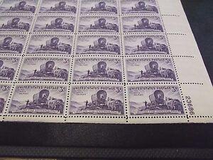U-S-Sheet-of-50-3-Stamps-950-Utah-Centenary-1947-MNH