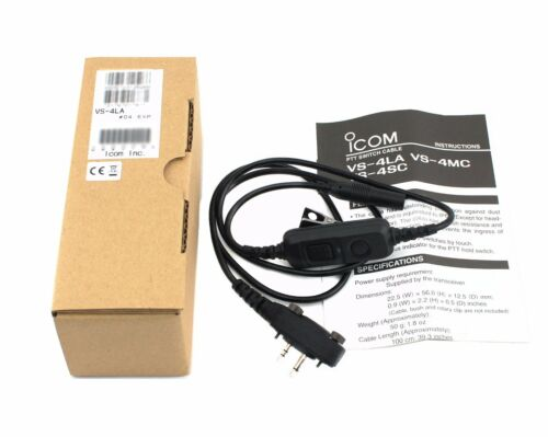 NEW ICOM VS-4LA PTT Switch Cable For IC-V88 IC-F3102 IC-F4102 IC-F3101 IC-F4101