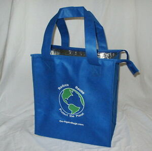 Image Is Loading Insulated Grocery Bag 4 Pack Blue With Shipping