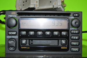 98-01 Toyota Camry 4Runner factory disc CD cass player radio AD6803 86120-08110