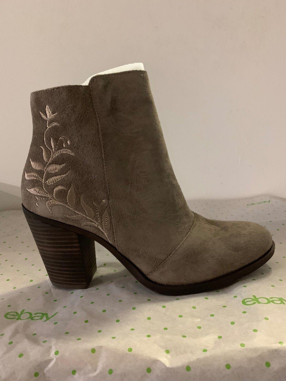 Lucky Brand Elenor Wouomo Fashion Ankle Suede stivali avvioies grigio US 9