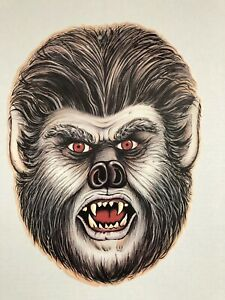 Vintage-Beistle-Werewolf-Face-Diecut-1983-Two-Sided