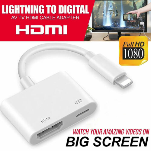 1080P To HDMI Digital AV TV Cable Adapter For iPad iPhone Xs XR X 8 7
