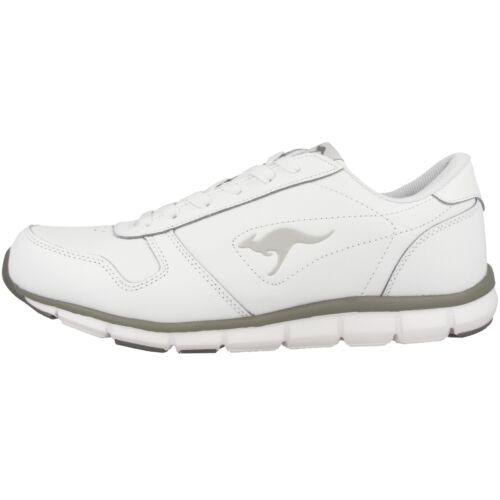 Kangaroos K-bluerun 700 B Trainer Shoes White Grey Trainers 7642a-002 K-Lev
