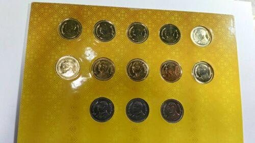 Thailand Set 13 Coins 2 Baht Y 2005-2017 Rama Ix Unc Mint Commemorative folder