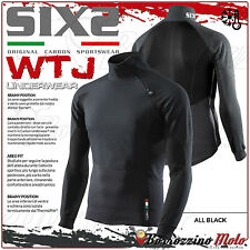 SIXS SIX2 WTJ GIACCA MAGLIA TERMICA WIND STOPPER BLACK ANTIVENTO NERA TAGLIA XL