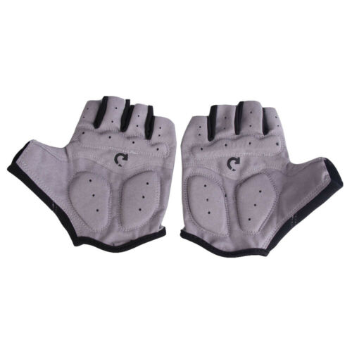 New Cycling Bicycle Motorcycle Sport Gel Half Finger Gloves Gray Size XL