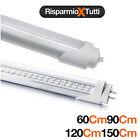 NEON TUBO LED 60-90-120-150 CM 6500K LUCE FREDDA/CALDA TRASPARENTE T8
