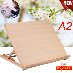 For Kids Adults Wooden Art Large Drawing Board Table Canvas Workstation Easel UK