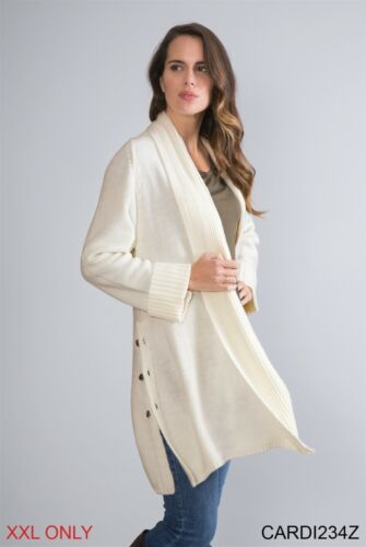 "Simply Noelle Women/'s /""Day-To-Day/"" Cotton Blend Cardigan"