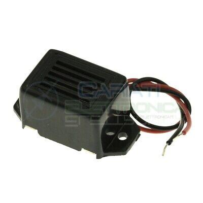 Cicalino Buzzer 24v Dc Rettangolare Con Oscillatore Integrato E Cavo
