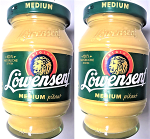 2x-Loewensenf-MEDIUM-pikant-250ml-Senf-German-Mustard-2x250ml-500ml
