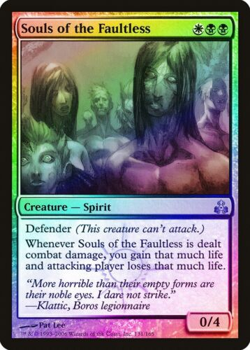 Souls of the Faultless FOIL Guildpact NM-M White Black Uncommon CARD ABUGames