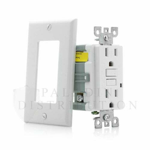 10 Pack Tamper Resistant 15A Amp TR GFCI Receptacle w// Wallplate UL Listed