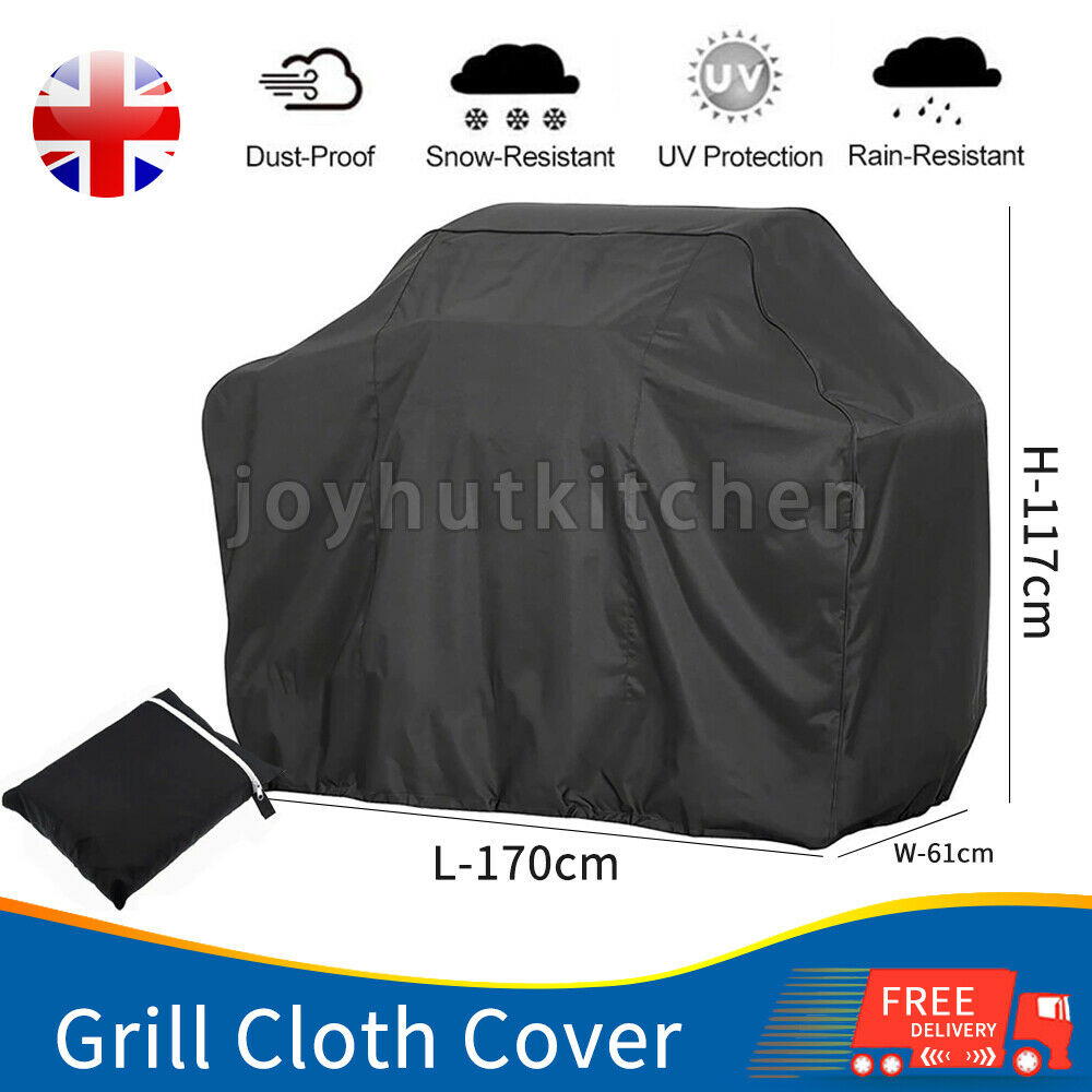 170CM Heavy Duty BBQ Cover Waterproof Barbecue Grill Protector Outdoor Covers