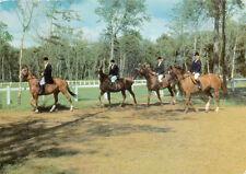 LE TOUQUET-PARIS-PLAGE départ pour la promenade cavaliers chevaux timbrée 1965