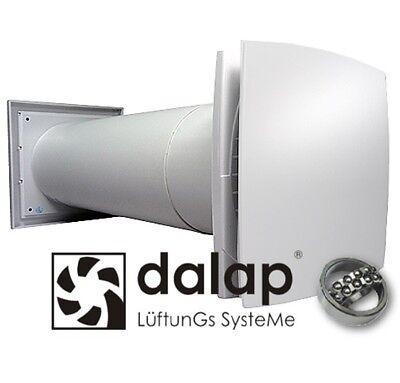 Mauerkasten einbaufertig Ventilator Teleskoprohr Außengitter dalap®