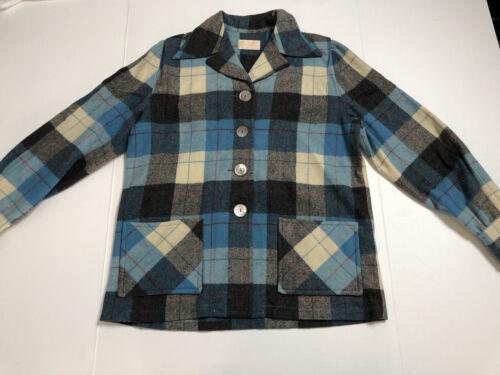 Mid Century Plaid Wool Jacket