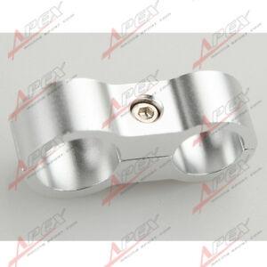 Schlauchhalter-AN4-4AN-11-9mm-Zu-6AN-AN6-14-6mm-Stahlflexschlauch-Alu-Silber