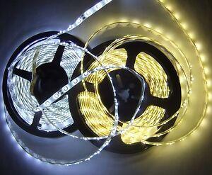 5M-Band-Strip-Streifen-Leiste-300-LED-SMD-3528-IP-65-Wasserfest-warmweiss-weiss