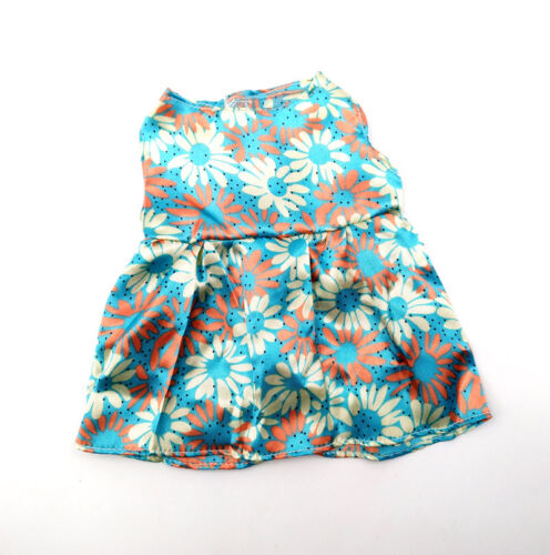 Fit For 18/'/' American Girl New Summer Party Blue Flower Mini Dress Doll Clothes
