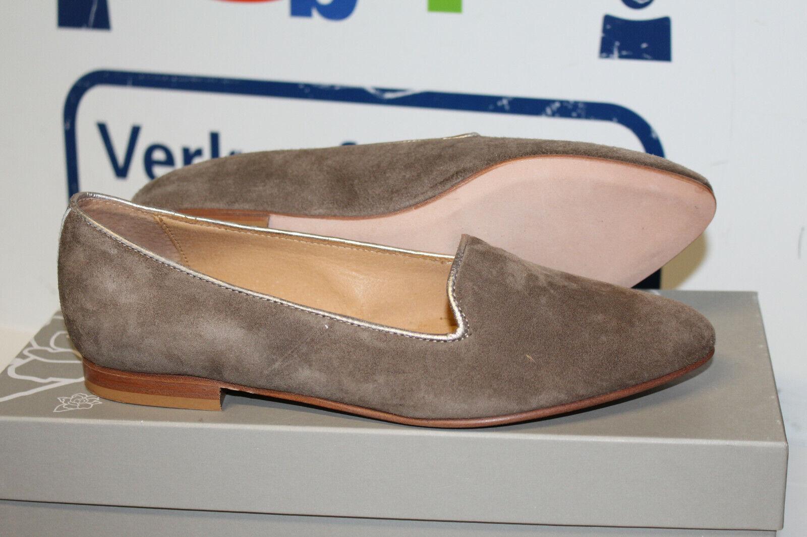 Maluo Damen Slipper-Schuhe Julia Leder  Gr 38 Neu