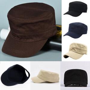 a13fa73749760 Fashion Men Luxury Women Army Cap Cadet Military Sailor Flat Top ...