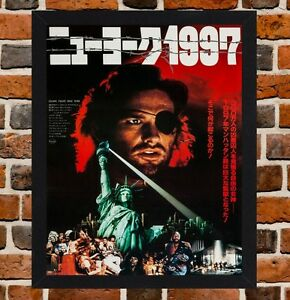 Escape From New York Poster.Framed Escape From New York Japanese Film Poster A4 A3 Size In