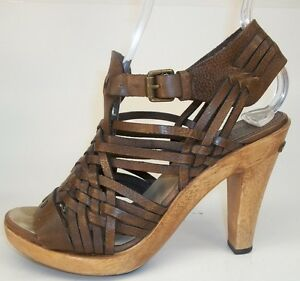 Michael-Kors-Womens-US-6-M-Brown-Woven-Strappy-Leather-Ankle-Strap-Heel-Sandals