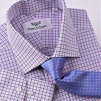Red White Blue Formal Business Dress Shirt Patriot Plaids & Checks Luxury Style