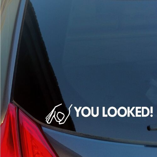 You Looked circle game vinyl sticker decal hit punch prank bam jackass knoxville