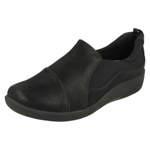 Negro Paz Sin Stepper Zapatos Nube Mujer Clarks Cordones Sillian gZwTqXFxx