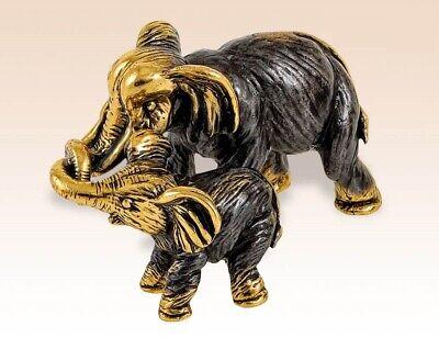 2Bronze Elephant Traditional Small Tiny Elephants Home Decor Figurines Vintage