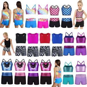 Girls-Kids-Ballet-Dance-Dress-Gymnastics-Leotard-Dancing-Tutu-Jumpsuit-Clothes